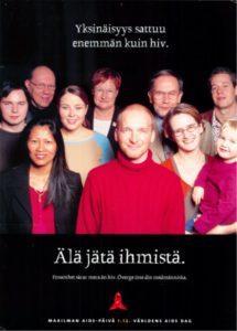 Yksinäisyys_sattuu_enemmän_kuin_hiv_Maailman aids-päivän toimikunta,_2003