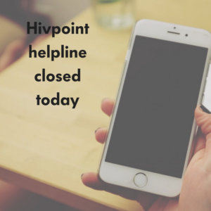 Phoneline closed today