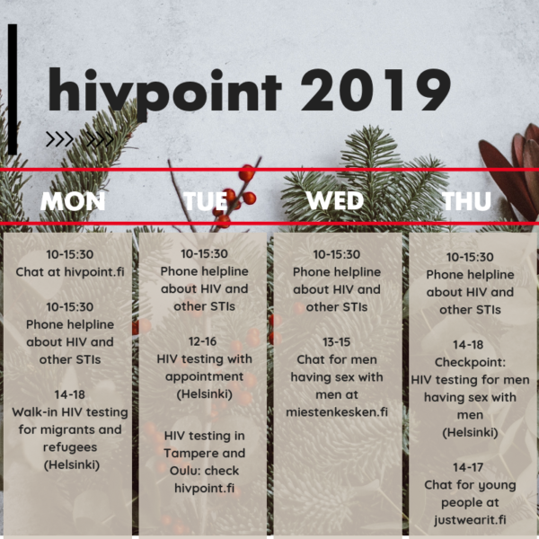 Hivpoint 2019 calendar fixed - English
