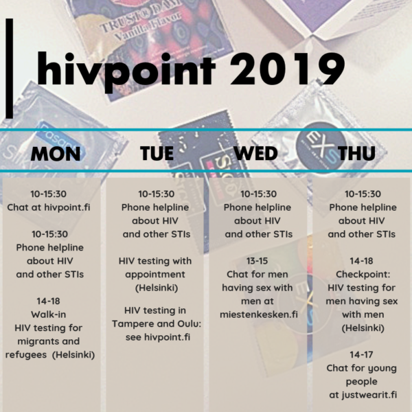 English Hivpoint 2019 services