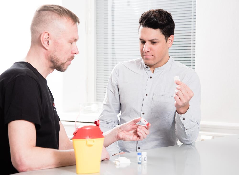 Kuvassa Checkpoint hiv-testaus Hivpointilla.