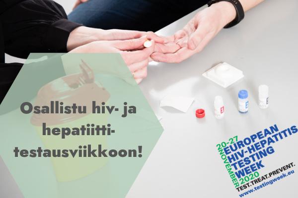 Osallistu hiv- ja hepatiittitestausviikkoon!
